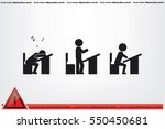 pupil chair desk icon vector... | Shutterstock .eps vector #550450681