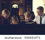 church people believe faith... | Shutterstock . vector #550451971