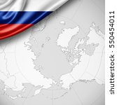 russia flag of silk with... | Shutterstock . vector #550454011