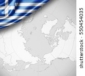 greece flag of silk with... | Shutterstock . vector #550454035