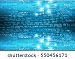 fufuture technology  blue cyber ... | Shutterstock .eps vector #550456171