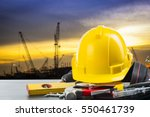 labor day tools and equipment... | Shutterstock . vector #550461739