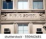 public school building | Shutterstock . vector #550462681