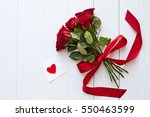 Red Roses With Message Card....