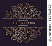 flower mandala. vintage... | Shutterstock .eps vector #550463929