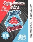 color vintage online cinema... | Shutterstock .eps vector #550466389