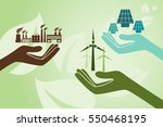 save environment and green... | Shutterstock .eps vector #550468195