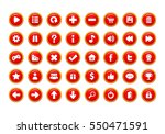 red game button templates. pack ... | Shutterstock .eps vector #550471591