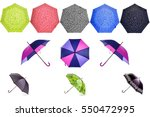 colorful umbrellas isolated on... | Shutterstock . vector #550472995
