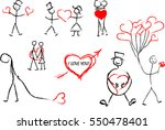 valentine's day icons | Shutterstock .eps vector #550478401