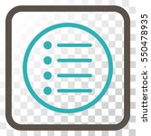 items grey and cyan vector icon....