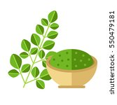 moringa plant with leaves and...   Shutterstock .eps vector #550479181