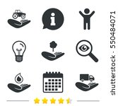 helping hands icons.... | Shutterstock . vector #550484071