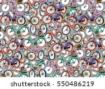 collage of hand drawn stickers... | Shutterstock .eps vector #550486219