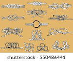 rope knots collection. hand... | Shutterstock .eps vector #550486441
