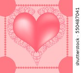 template for valentines day... | Shutterstock .eps vector #550487041