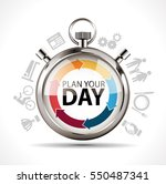 stopwatch   plan your day  ... | Shutterstock .eps vector #550487341