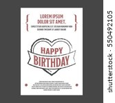 birthday invitation | Shutterstock .eps vector #550492105