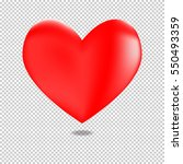 3d red heart for valentines day ... | Shutterstock .eps vector #550493359