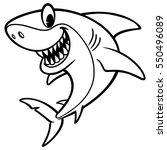 shark cartoon drawing  | Shutterstock .eps vector #550496089