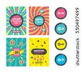 sale website banner templates.... | Shutterstock . vector #550497499