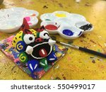painting activity in murasaki... | Shutterstock . vector #550499017