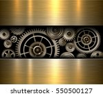 background metallic gears ... | Shutterstock .eps vector #550500127
