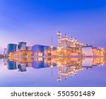 power plant with reflection...   Shutterstock . vector #550501489