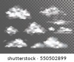 fog   smoke and cloud isolated... | Shutterstock .eps vector #550502899