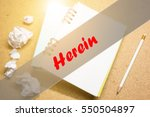 Small photo of Herein - Abstract hand writing word to represent the meaning of word as concept. The word Herein is a part of Action Vocabulary Words in stock photo.