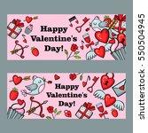 happy valentine's day vector...   Shutterstock .eps vector #550504945