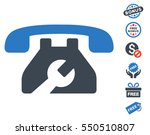 repair service phone icon with... | Shutterstock .eps vector #550510807