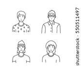 cartoon sketch people | Shutterstock .eps vector #550511497