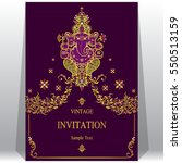 indian wedding invitation card... | Shutterstock .eps vector #550513159