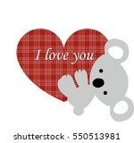 icon cute koala holds onto a... | Shutterstock .eps vector #550513981