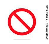 restriction icon. flat design.... | Shutterstock .eps vector #550515601