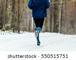 back male runner running winter ... | Shutterstock . vector #550515751