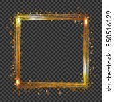 vector golden frame with lights ... | Shutterstock .eps vector #550516129