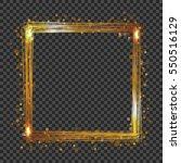 vector golden frame with lights ... | Shutterstock .eps vector #550516129