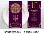 wedding menu card templates...   Shutterstock .eps vector #550516354