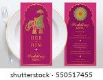 wedding menu card templates... | Shutterstock .eps vector #550517455