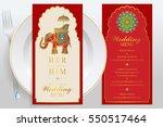wedding menu card templates... | Shutterstock .eps vector #550517464