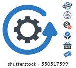 gearwheel rotation direction... | Shutterstock .eps vector #550517599