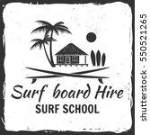 vector summer surfing retro... | Shutterstock .eps vector #550521265