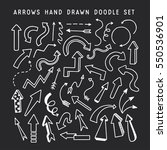 hand drawn arrows doodle set.... | Shutterstock .eps vector #550536901