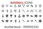 simple modern set of baseball... | Shutterstock .eps vector #550542151