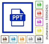 ppt file format flat color...