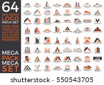 mega set and big group  real... | Shutterstock .eps vector #550543705