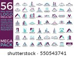 mega set and big group  real... | Shutterstock .eps vector #550543741