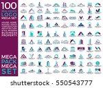 mega set and big group  real... | Shutterstock .eps vector #550543777